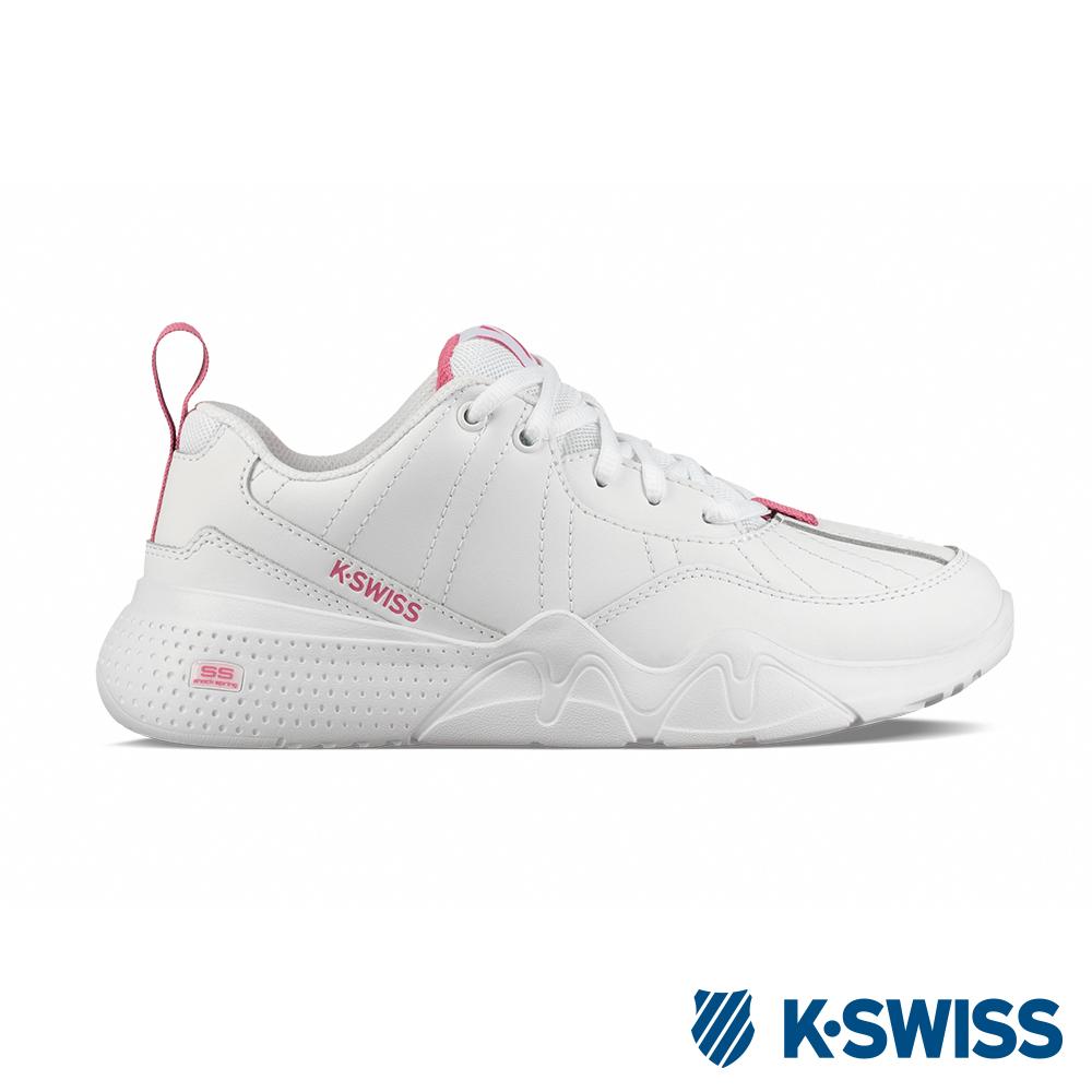 K-SWISS CR-329 LTR老爹鞋-女-白/桃紅