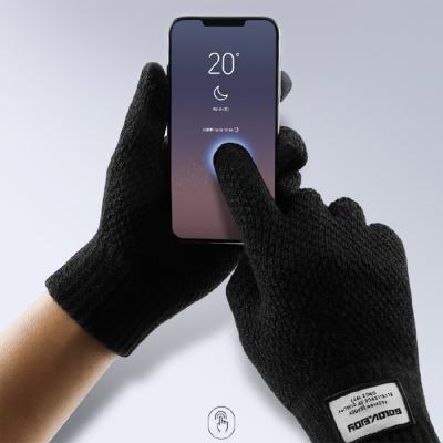 lemonsolo韓版男女款加絨觸屏保暖手套
