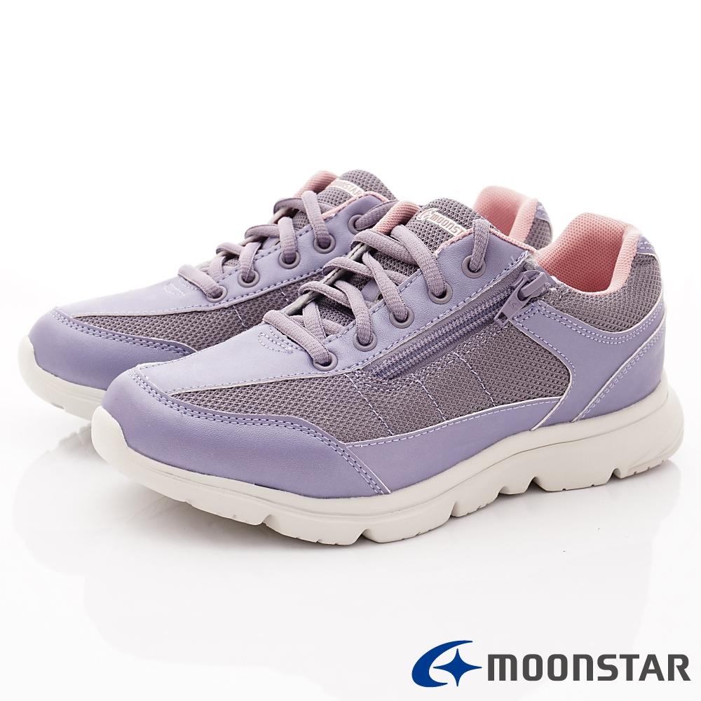 日本Moonstar戶外健走鞋-3E抗菌機能款-ON621紫(女段)