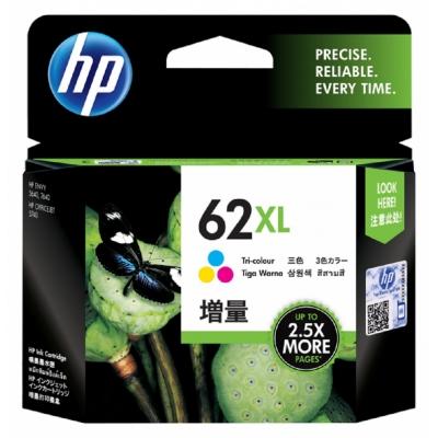 HP C2P07AA 原廠彩色高容量墨水匣 NO:62XL