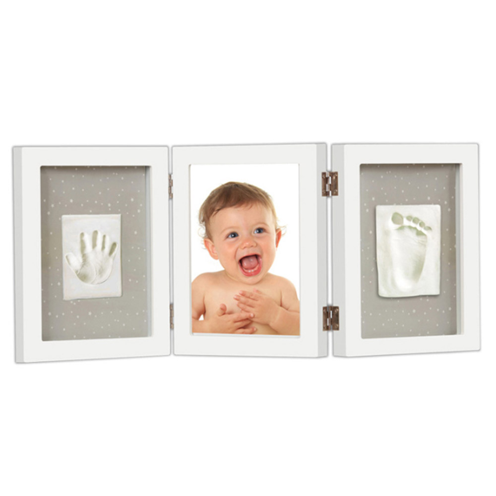 珍愛回憶系列寶寶手足模印相框(豪華桌上型)