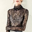 專注內搭-性感透明內搭蕾絲衫(S-XL可選)