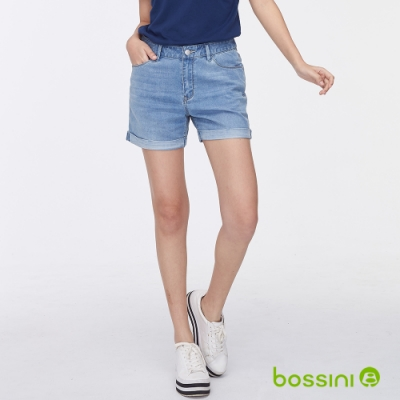 bossini女裝-ZtayCool冰涼牛仔短褲藍