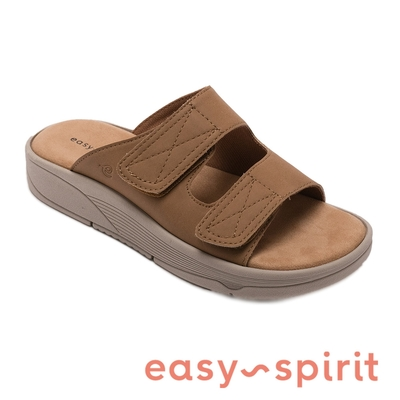 Easy Spirit-seREDS3 雙寬帶厚底拖鞋-絨棕