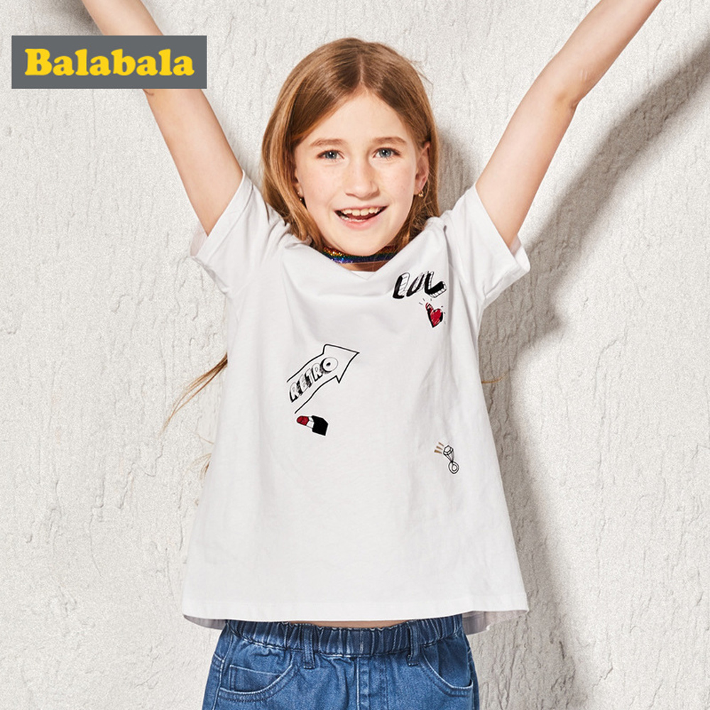 Balabala巴拉巴拉-活潑印花露肩造型上衣-女(3色)