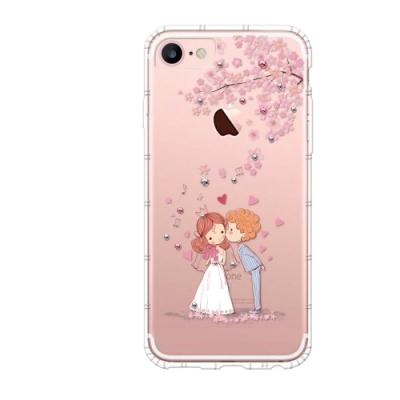 Corner4 iPhone 8 / iPhone 7 4.7吋奧地利彩鑽防摔手機殼-櫻花戀