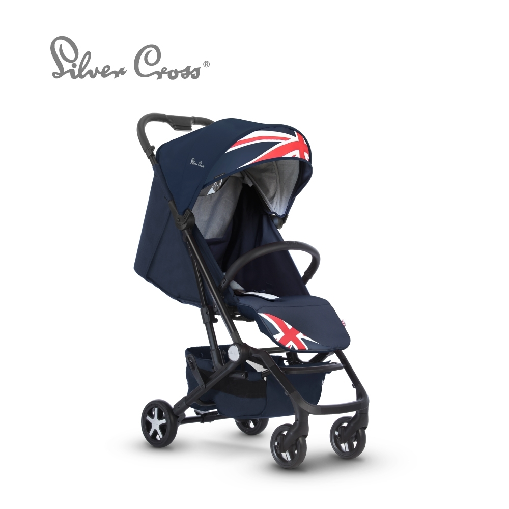 Silver Cross Wing 輕量秒收 可登機 可平躺 嬰兒手推車 0m+(倫敦藍)