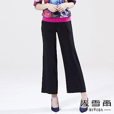 【麥雪爾】質感素面修身直筒褲-黑