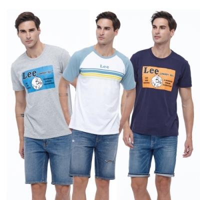 【時時樂限定】LEE熱銷男生Logo短T-五款選