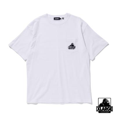 XLARGE S/S EMBROIDERY SLANTED OG POCKET TEE 刺繡口袋短T-白