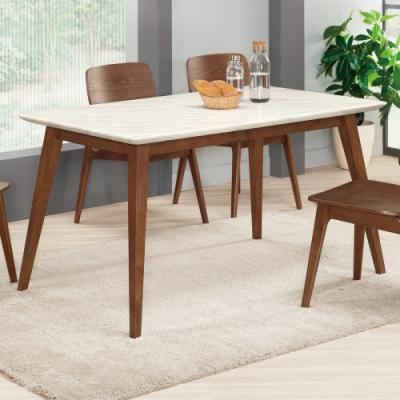 Boden-溫克4.7尺胡桃色石面餐桌-140x85x77cm