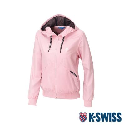 K-SWISS Solid Windbreaker 1風衣外套-女-珊瑚紅