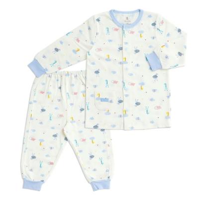 奇哥 長頸鹿全開套裝/居家服-羊毛保暖布 6- 36個月(2色選擇)