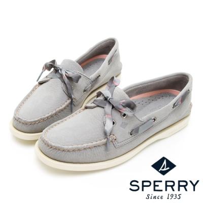 SPERRY 皇家學院經典手工牛皮帆船鞋(女)-灰色