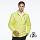【Lynx Golf】男款防風保暖鋪棉素面隱形拉鍊口袋設計長袖外套-黃色 product thumbnail 2