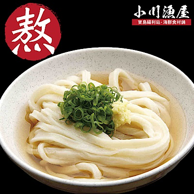 小川漁屋 讚岐龍膽石斑熬味增烏龍湯麵食材組2人份(湯600g麵體500g)