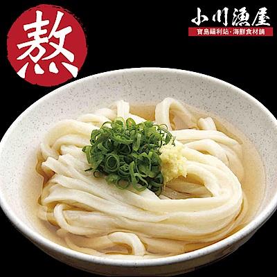 小川漁屋 讚岐龍膽石斑熬味增烏龍湯麵食材組4人份(湯1200g麵體1000g)