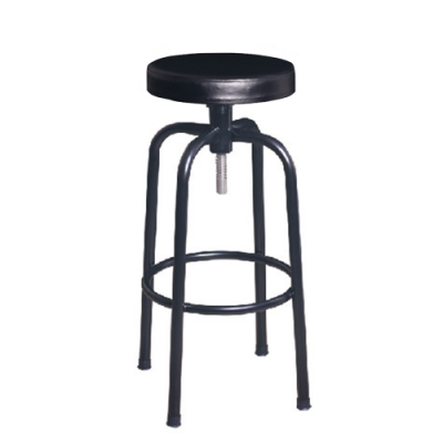 H&D 瑞士308黑厚皮吧椅