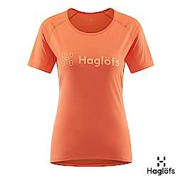 Haglofs 女 Jamtland 快乾 UPF40防曬 抗臭T恤 珊瑚粉紅色