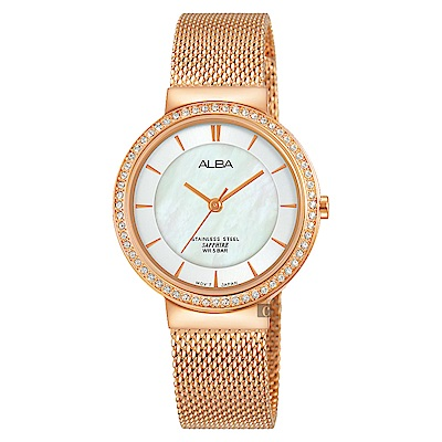 ALBA雅柏 施華洛世奇甜美情人限定女錶(AH8496X1)-30mm