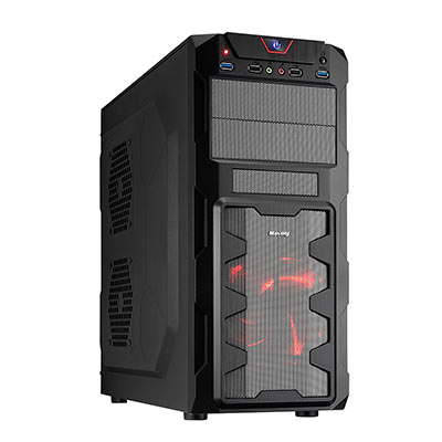 技嘉A320平台[太陽藍焰]AMD雙核GTX1050獨顯電玩機