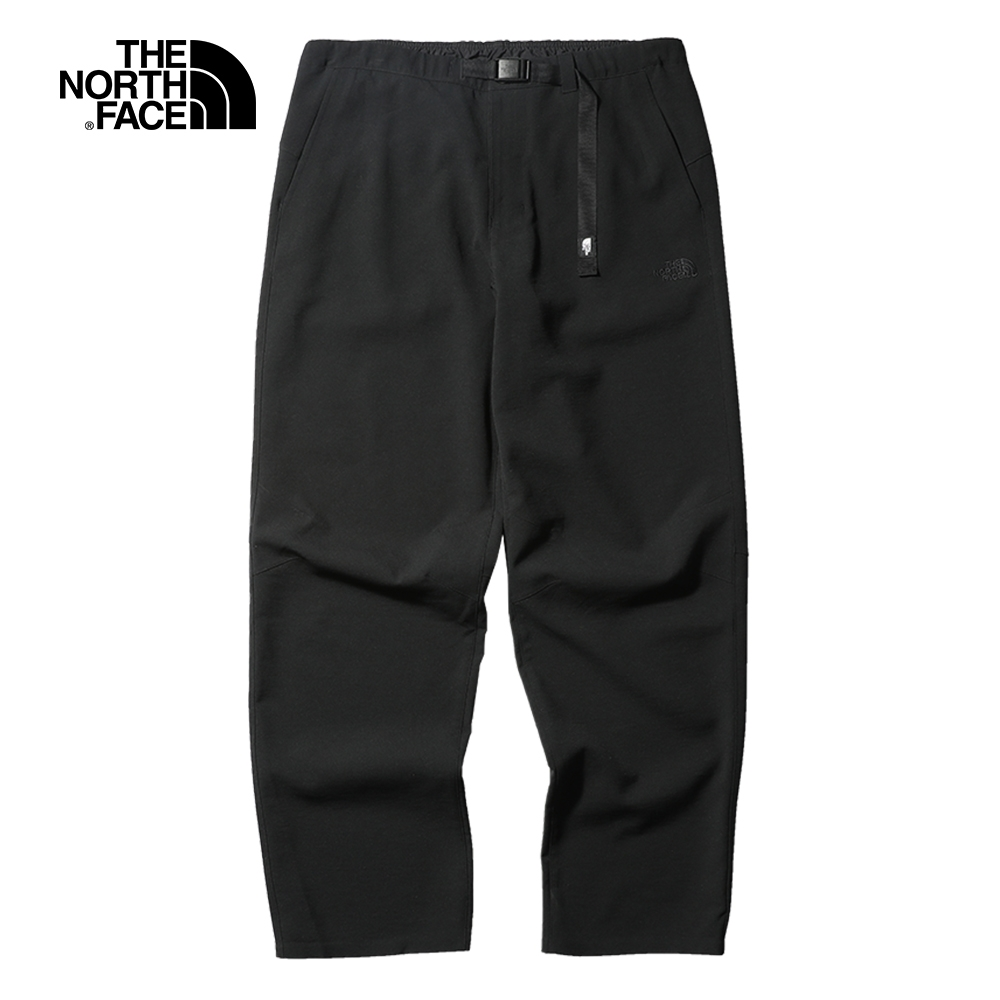 The North Face北面男款黑色防潑水舒適戶外休閒褲|4NDTJK3