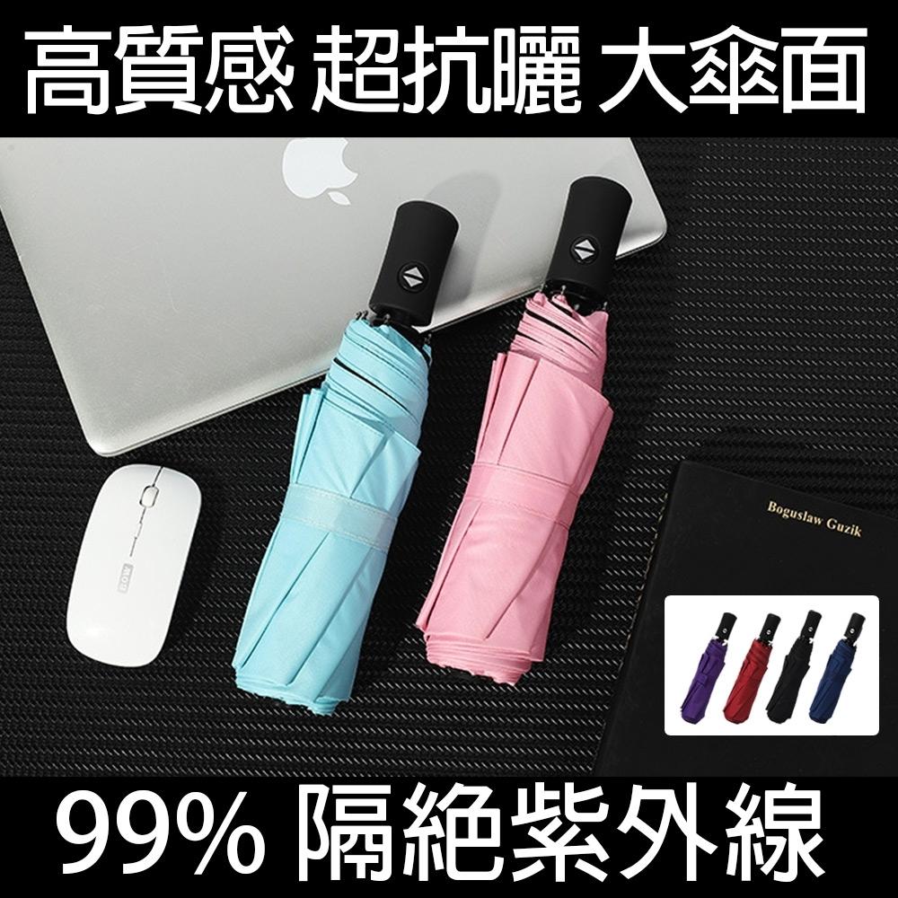 【KISSDIAMOND】超輕量自動開收抗UV黑膠UPF50+晴雨傘(自動折傘/抗強風/防斷裂/抗UV/KDU-001)