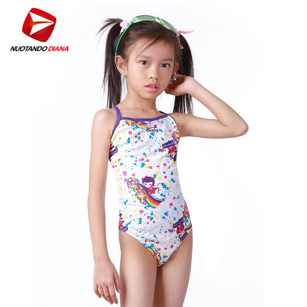 義大利DIANA 女童連身泳裝 N130049