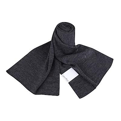 CK Calvin Klein 素面LOGO圍巾(灰)