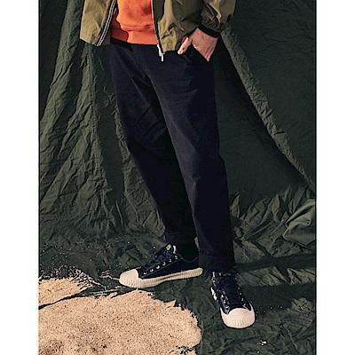 NAVY-錐形款反摺褲(二色)-男【A1NA029】