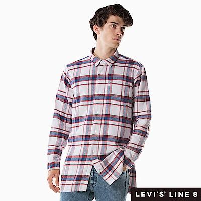 Levis 男款 格紋襯衫 Oversize寬鬆長版