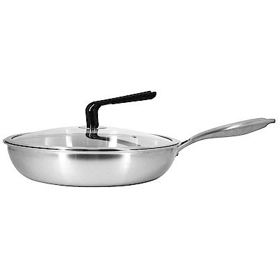 清水 316不鏽鋼複合金平底鍋不鏽鋼把手33cm