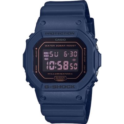 G-SHOCK  海軍藍經典運動錶(DW-5600BBM-2)