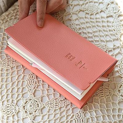 PLEPIC 雙面票卡名片收納多功筆記本-珊瑚粉
