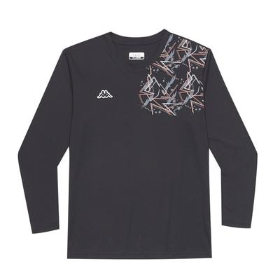 KAPPA義大利 時尚男吸溼排汗圓領衫 黑 321G17W005