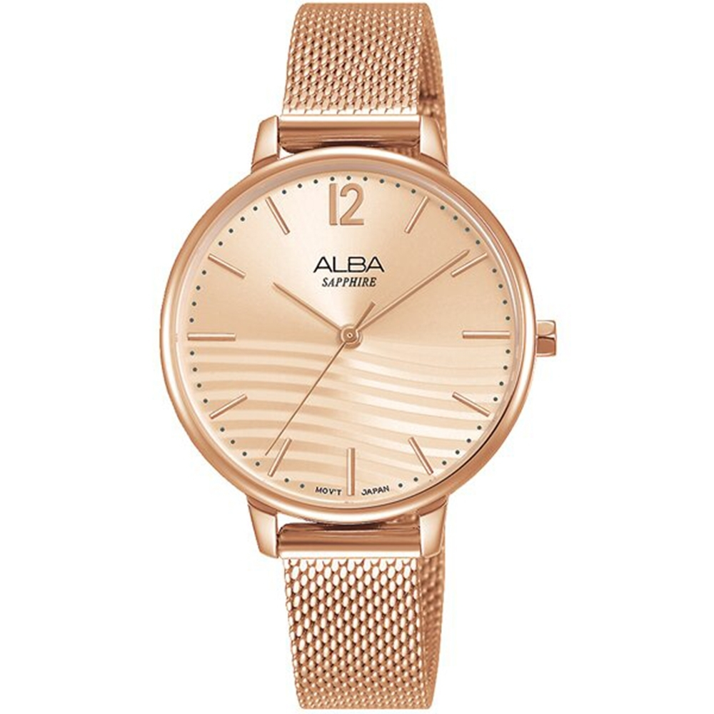 ALBA 雅柏 都會時尚女錶(VJ21-X168K)AH8760X1
