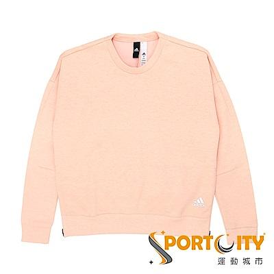 ADIDAS 女 圓領套頭衫 粉紅-BP5571