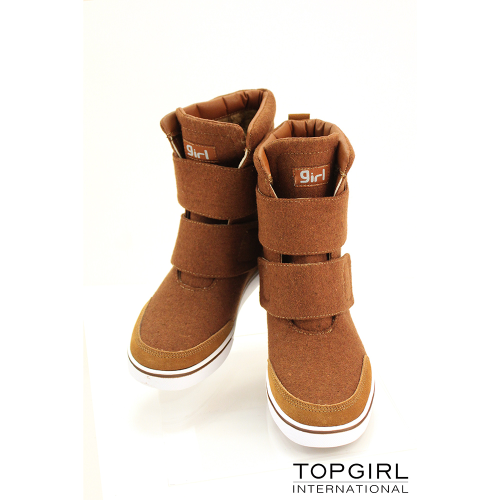 【TOP GRIL】帥氣女孩短靴-卡其