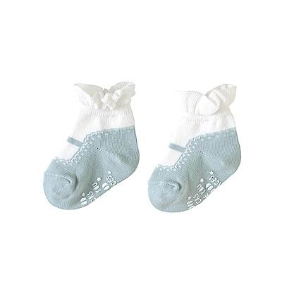 10mois  瑪莉珍荷葉短襪(水藍)