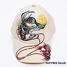 日本藍 BLUE WAY 精繡鬥魚系列棒球帽(米色)