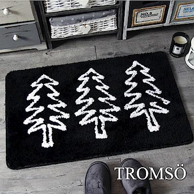 TROMSO 凱薩頂級厚絨毛吸水大地墊-M519黑爵森林