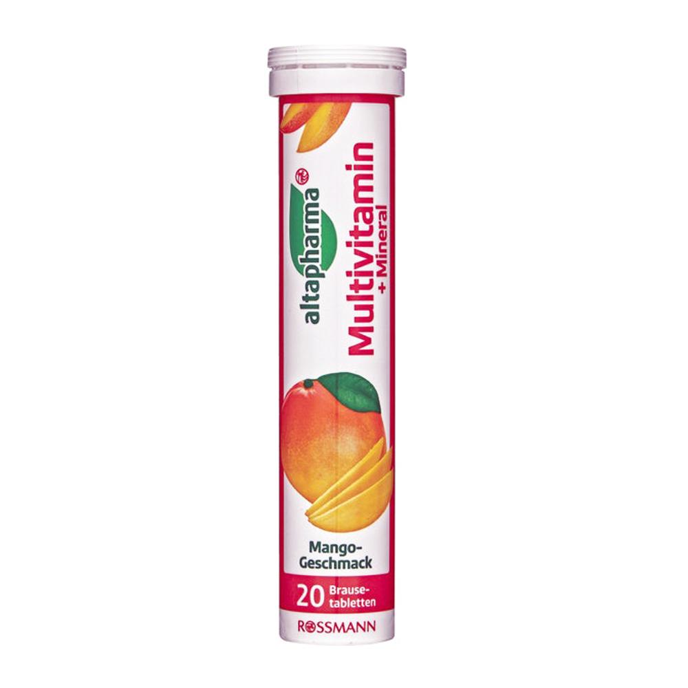 ROSSMANN 德國發泡錠-綜合維他命+礦物質(芒果口味) 20錠/條