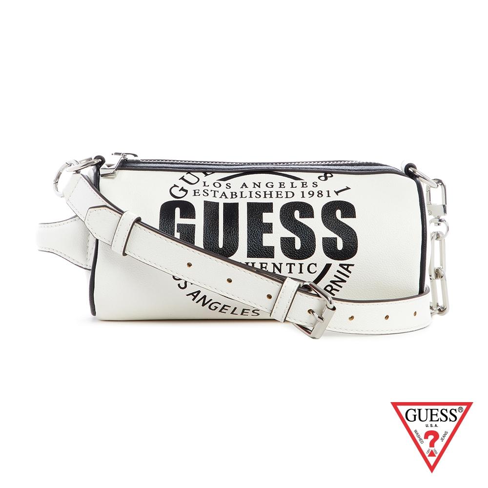 GUESS-男包-個性字母LOGO斜背包-白 原價2090