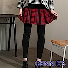 Gennies專櫃-俏麗格紋短裙假二件一體成型內搭褲(紅)T4838