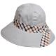 DAKS 經典金色品牌LOGO吊飾格紋蝴蝶結造型帽(灰底) product thumbnail 1