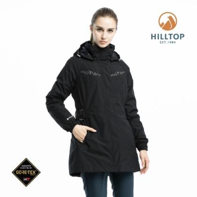 【hilltop山頂鳥】女款GORE-TEX二合一羽絨短大衣F22FZ5黑美人