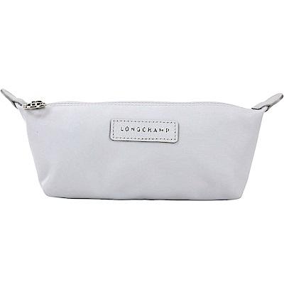 LONGCHAMP Le Pliage Neo 厚尼龍長型化妝包(銀灰色)