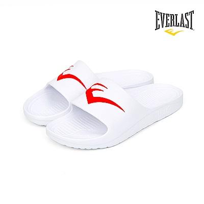EVERLAST 品牌經典LOGO拖鞋-男-白