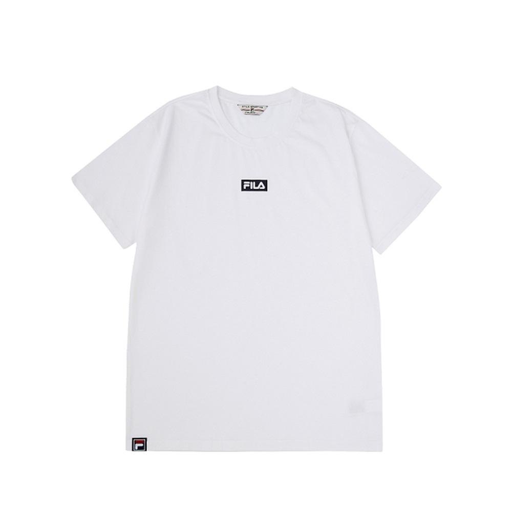 FILA 短袖圓領T恤-白色 1TEV-1527-WT