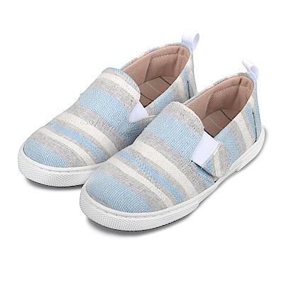 BuyGlasses 可愛織布鬆緊休閒鞋-藍